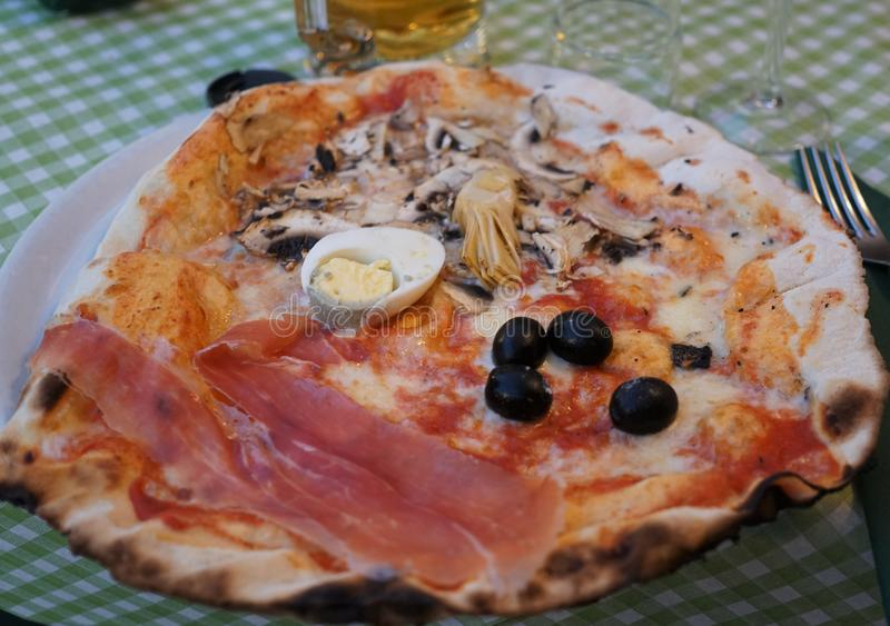 Traditional Italian pizza royalty free stock images