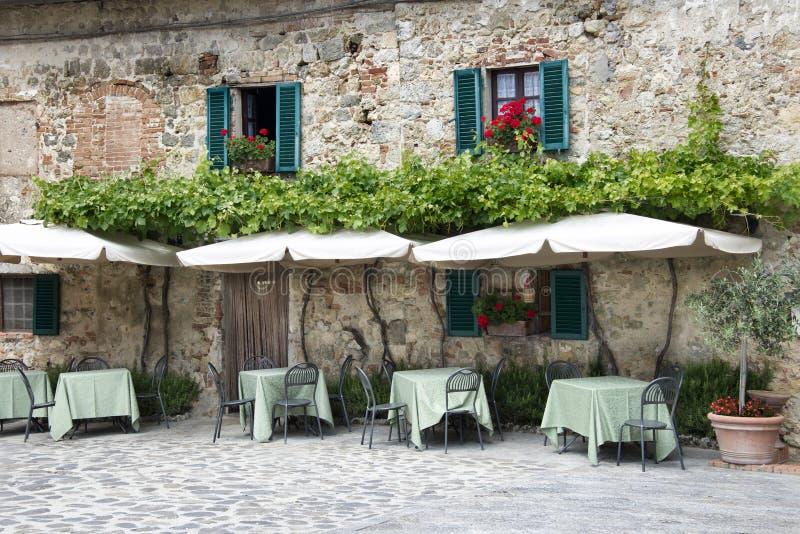 Traditional italian restaurant stock photography