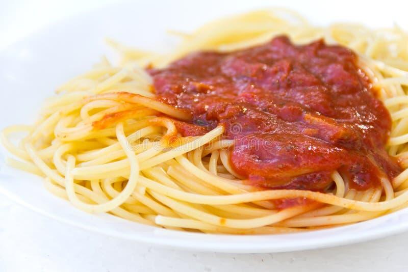 Traditional Italian spaghetti stock photo