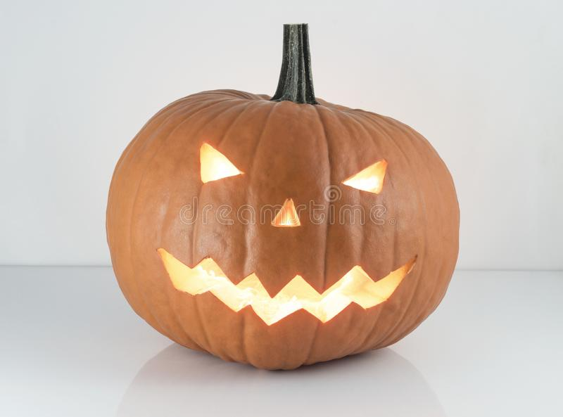 Halloween pumpkin. Traditional jack-o-lantern halloween pumpkin stock photography