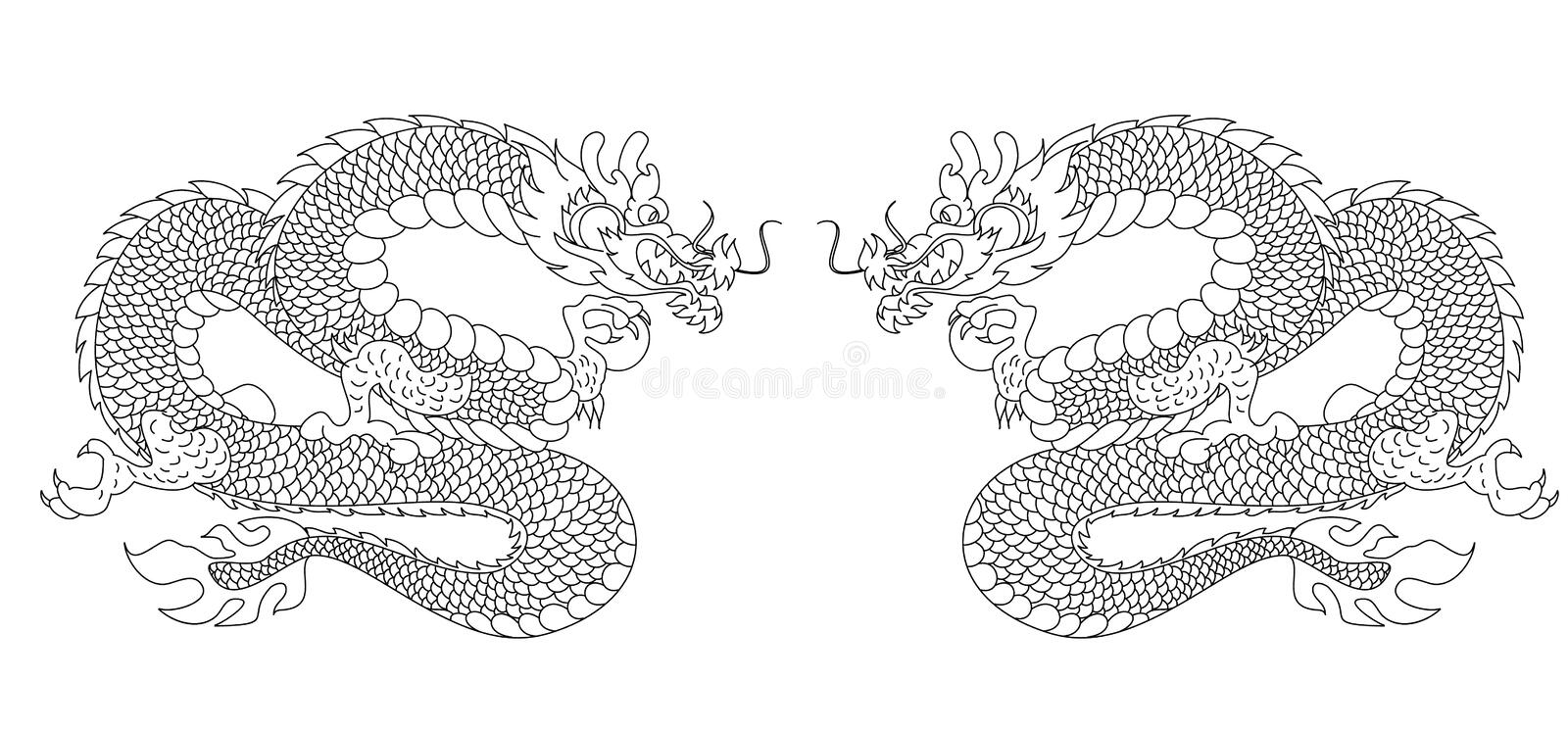 Traditional Japan set vector for backdrop on background. Japanese vector on background.Chinese dragon for sticker printing on board and screen shirt on royalty free illustration