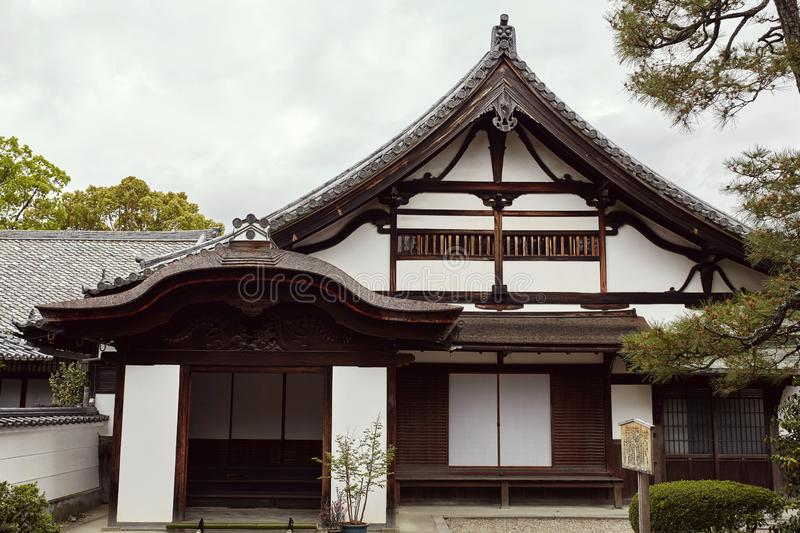 Traditional Japanese architecture in the Byodoin Complex royalty free stock photo