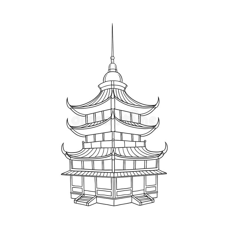Free Traditional Japanese, Chinese, Asian Pagoda Royalty Free Stock Photo - 107736925