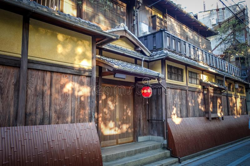 Traditional japanese houses, Gion district, Kyoto, Japan stock photo