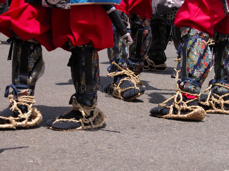 Traditional Japanese infantry footwear stock image