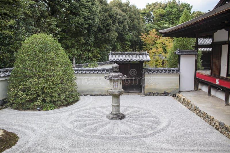 Traditional Japanese karesansui stock photography