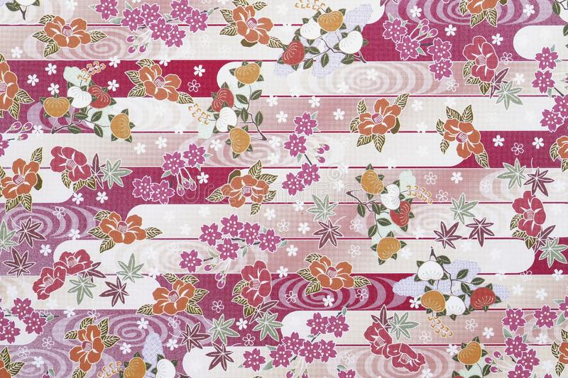Traditional Japanese pattern paper royalty free stock image