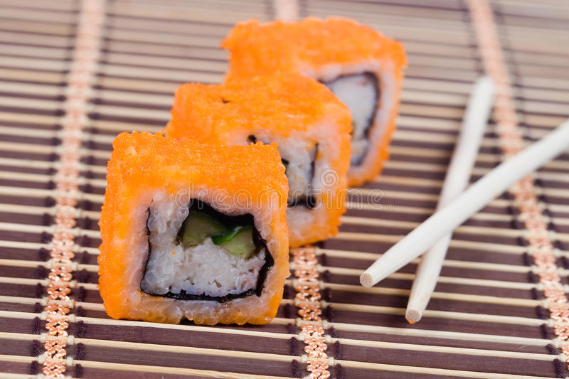 Traditional japanese rolls stock photo