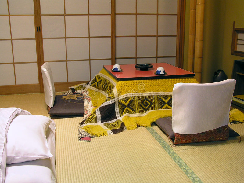 Traditional Japanese Room stock photos