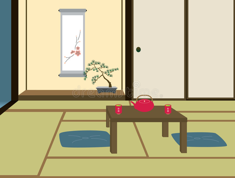 Traditional Japanese Room royalty free illustration
