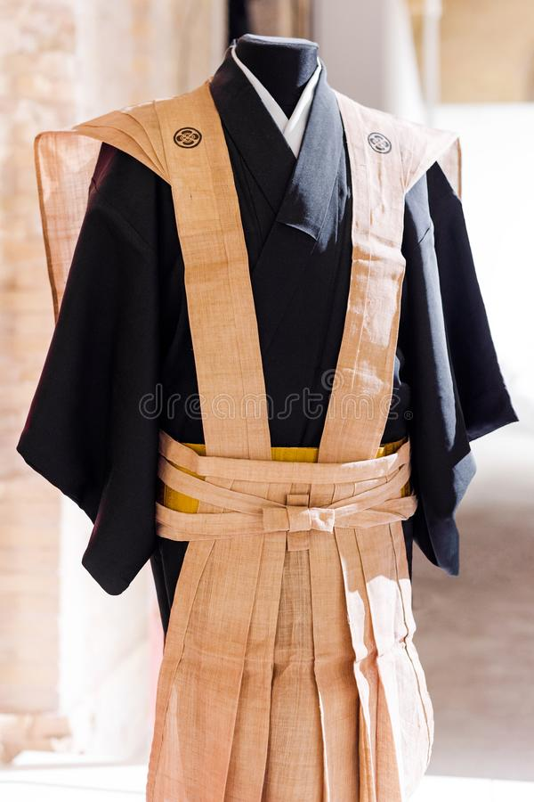 Download Traditional Japanese Samurai Dress Kimono For Man Stock Image