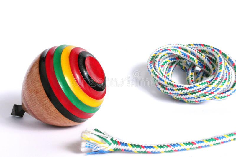 Japanese Toy Tops : Traditional japanese spinning top stock image of