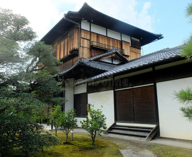 Download Traditional Japanese Style House With A Small Garden Stock Image    Image Of Daylight,