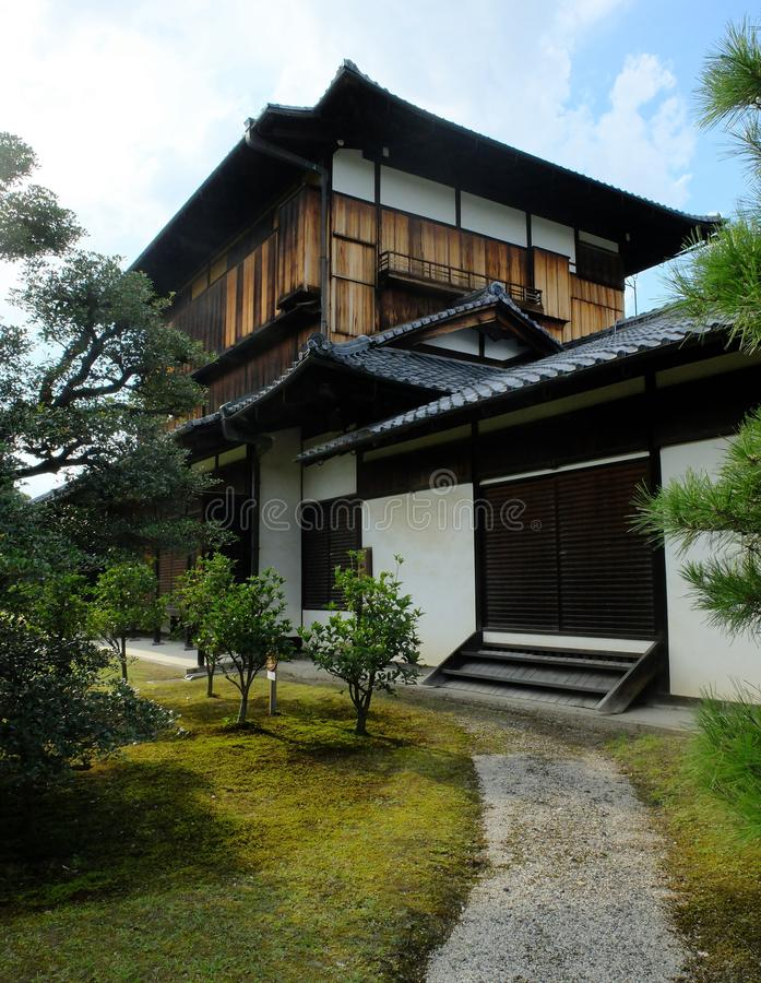 Download Traditional Japanese Style House With A Small Garden Stock Photo    Image Of Door,
