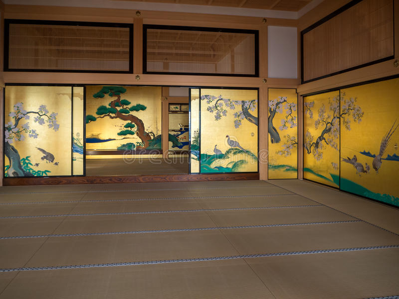 Traditional Japanese style,Interior of a traditional Japanese room stock images