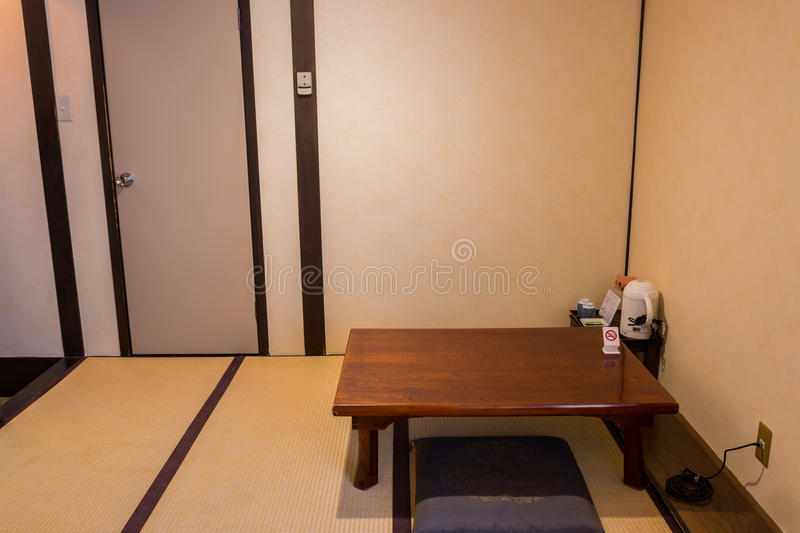 Traditional Japanese Tea Room with tatami mat. Traditional Japanese Tea Room with tatami mat, Japanese style royalty free stock image