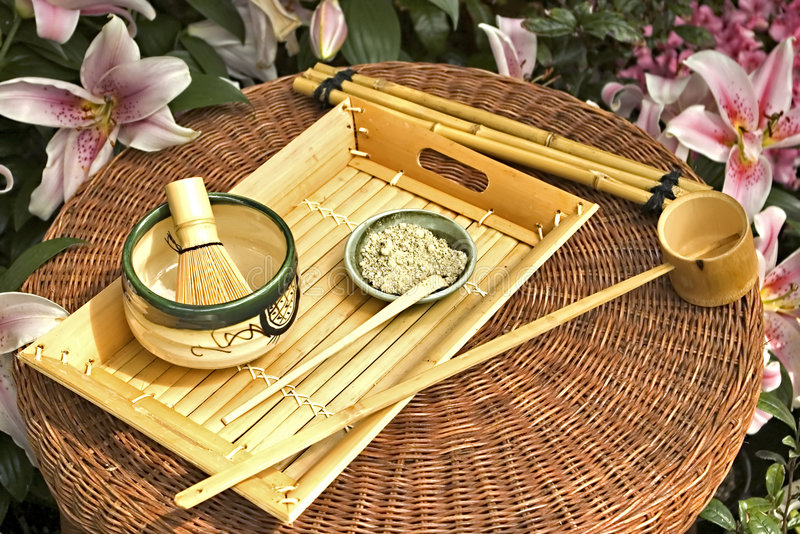 Traditional Japanese Tea Set royalty free stock images