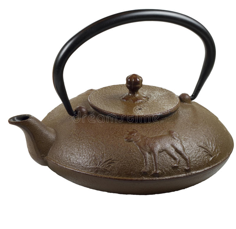 Traditional Japanese Tetsuin cast iron teapot royalty free stock images