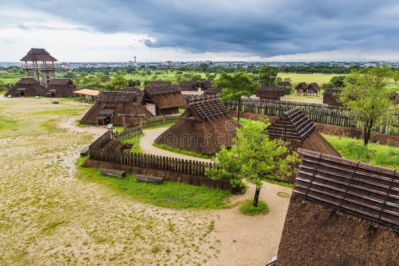 Traditional japanese town in Yoshinogari Historical Park, Kanzak. I, Saga Prefecture stock images