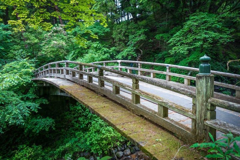 Traditional japanese wooden bridge in Nikko, Japan stock photos