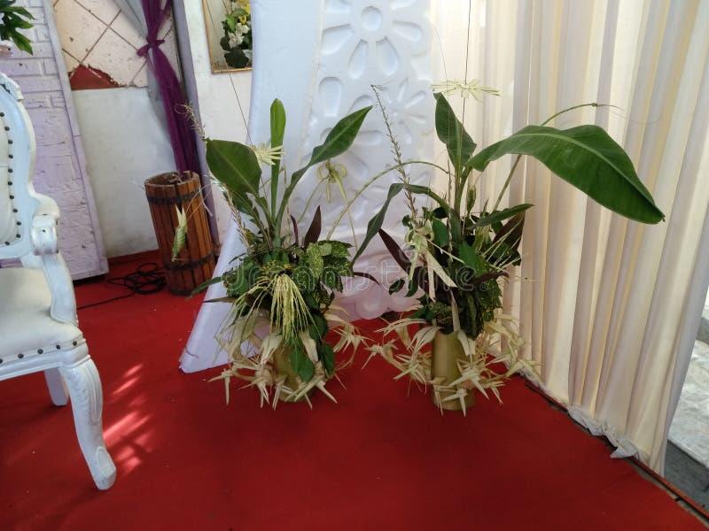 Traditional Javanese bridal decoration or called kembar mayang royalty free stock photography
