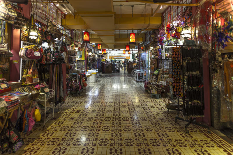 Traditional jewelry shop and souvenir items mall stock photo