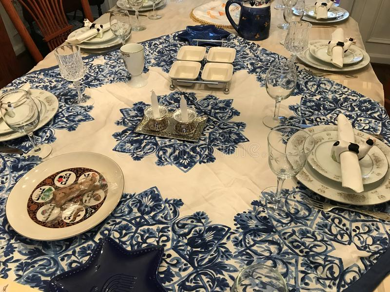 Download Traditional Jewish Passover Dinner Table Setting Stock Image - Image of layout design & Traditional Jewish Passover Dinner Table Setting Stock Image - Image ...
