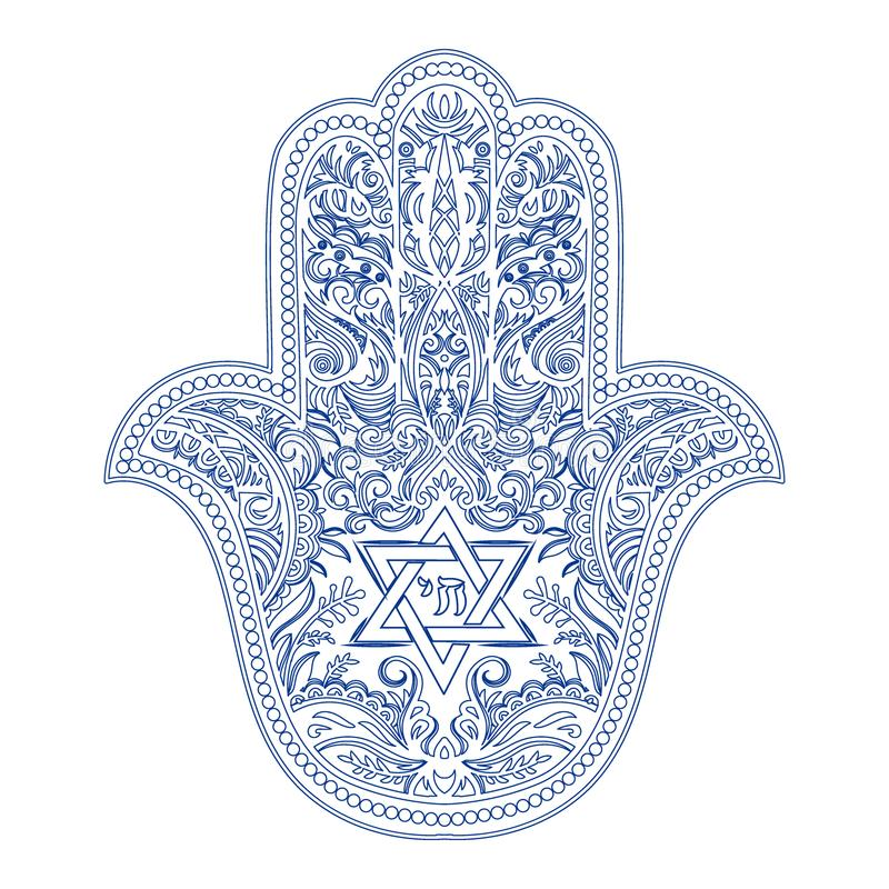 Jewish Hamsa Tattoo Stock Vector Illustration Of Quality 112325417