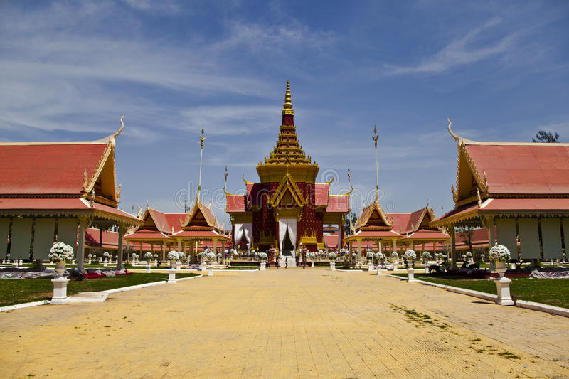 Traditional Khmer architecture in Cambodias Phnom stock photography