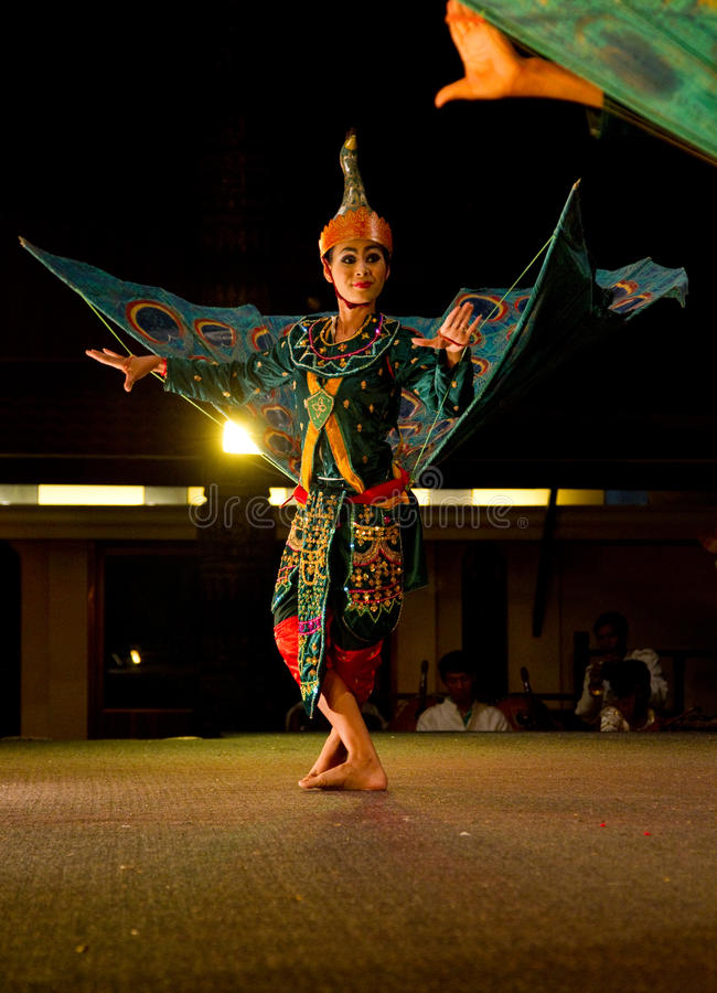 Traditional Khmer dance depicting half bird/human