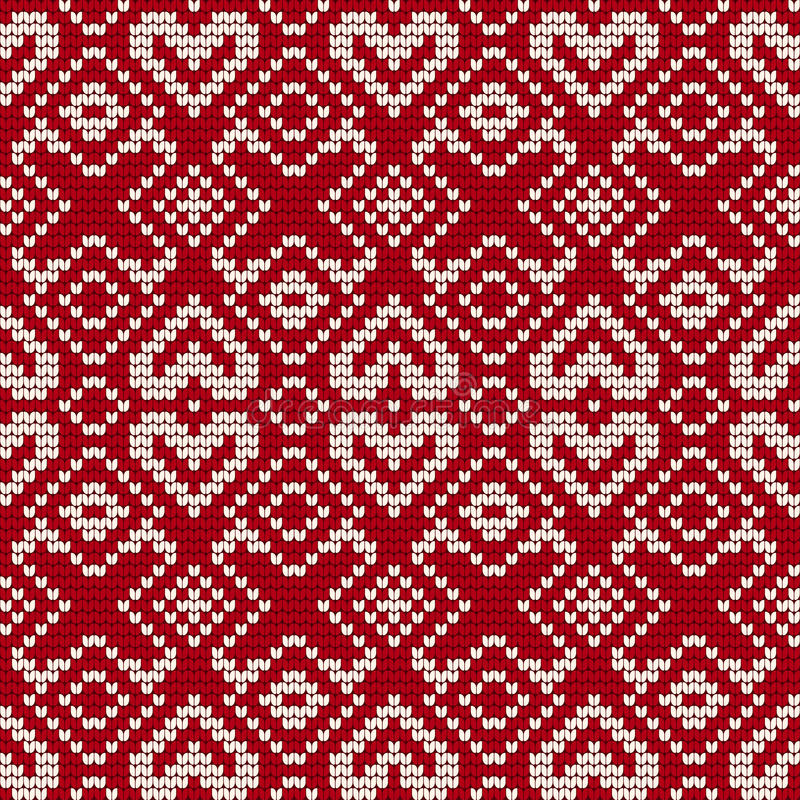 Traditional Knitting Pattern For Ugly Sweater Stock Illustration ...