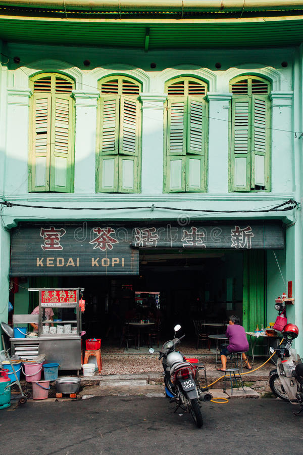 Download Traditional Kopitiam, Penang, Malaysia Editorial Stock Image - Image of heritage, coffeeshop: 75409589
