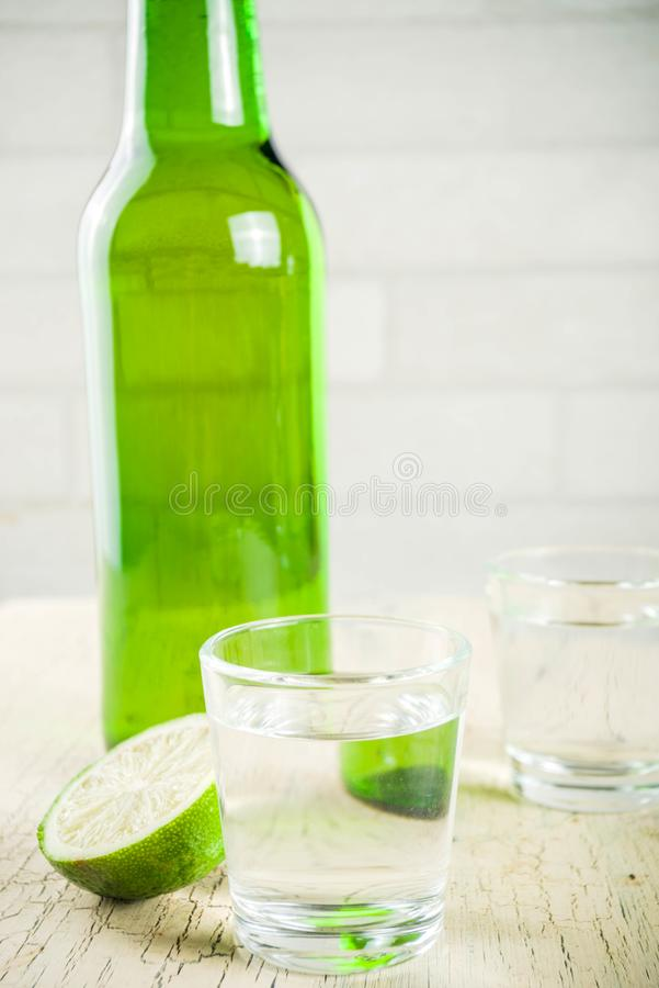 Traditional korean drink soju stock photography