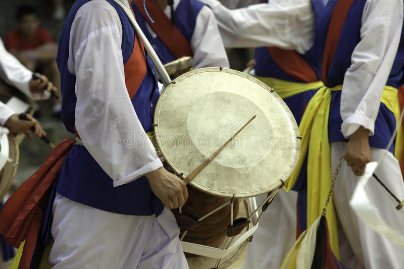 Traditional Korean drummer.