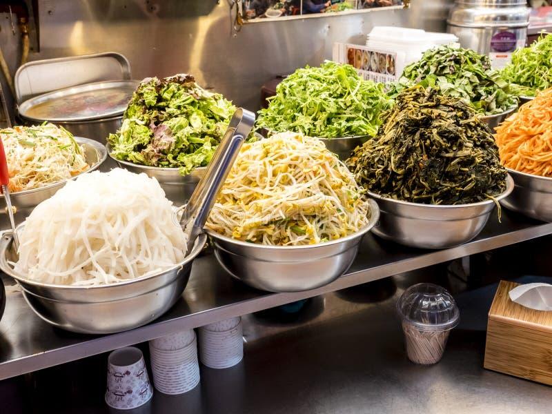 Traditional Korean fermented food at the Gwangjang Market. Seoul, South Korea. Healthy food stock photography