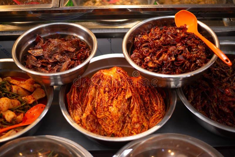 Traditional Korean Foon sell on Market stock image
