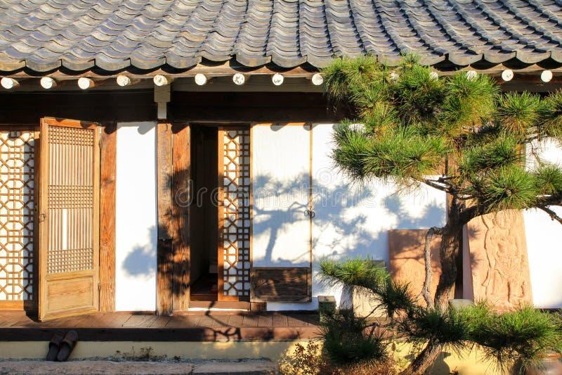 Traditional Korean Hanok House. Design royalty free stock photo