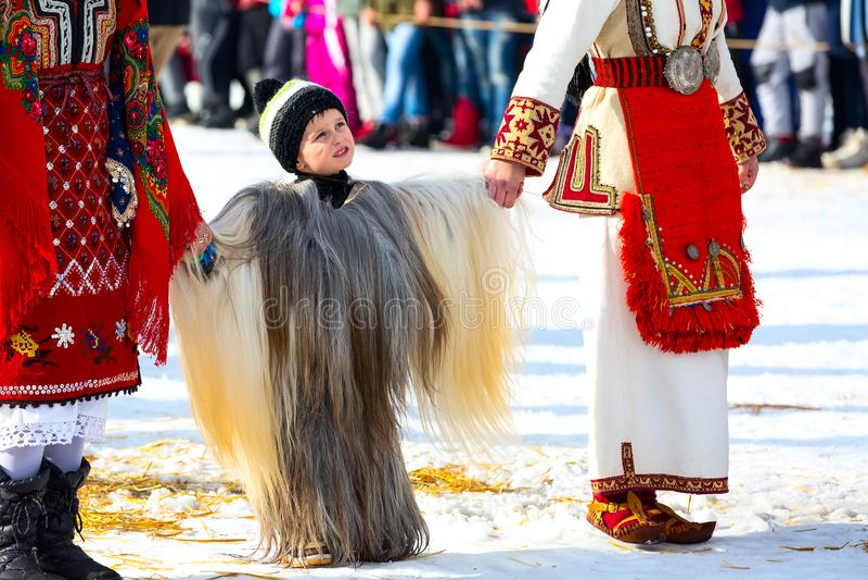 Traditional Kukeri Costume Festival In Bulgaria Editorial