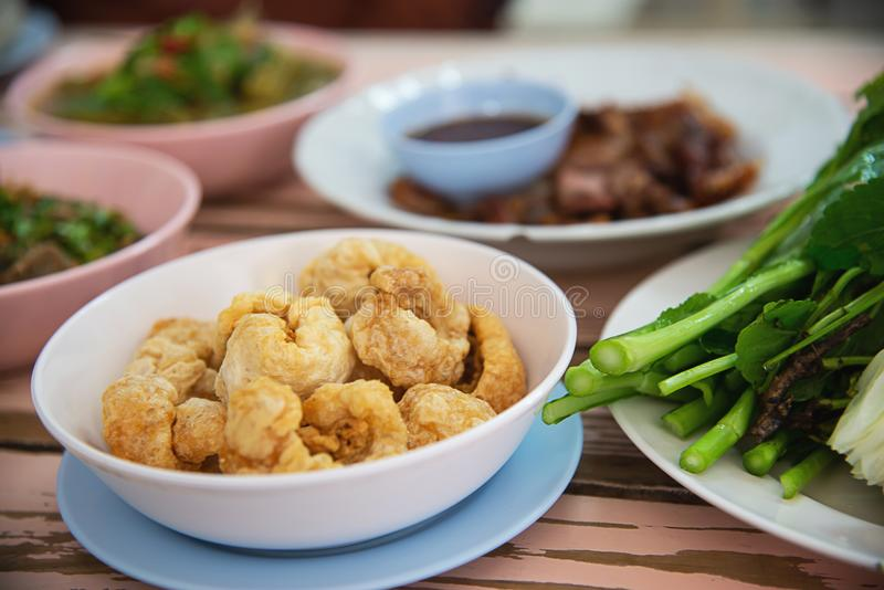 Traditional local Northern Thai style food meal stock image