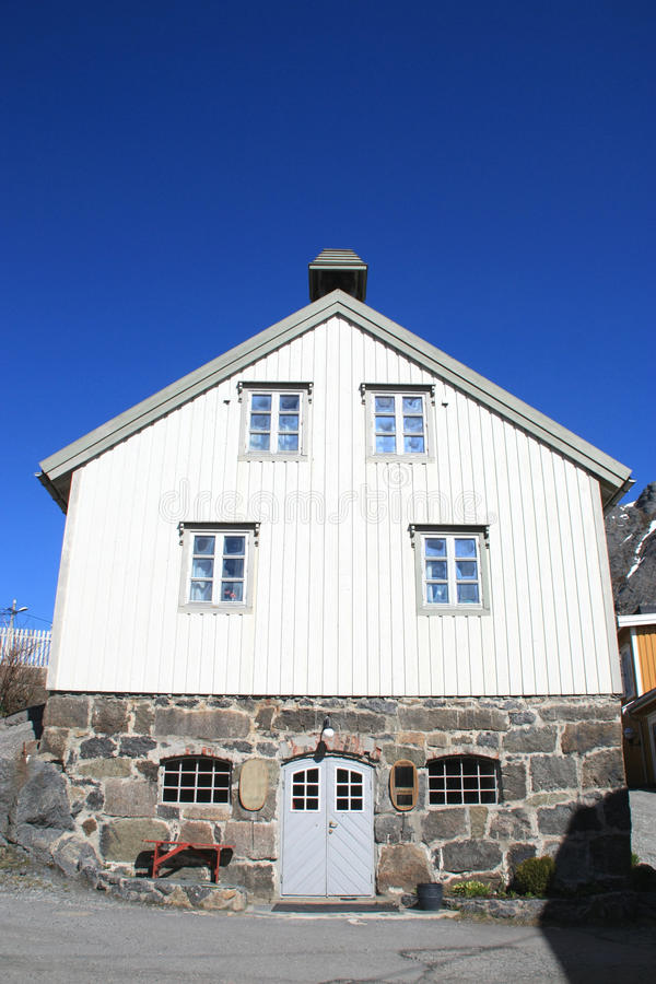 Traditional Lofoten's house royalty free stock photo