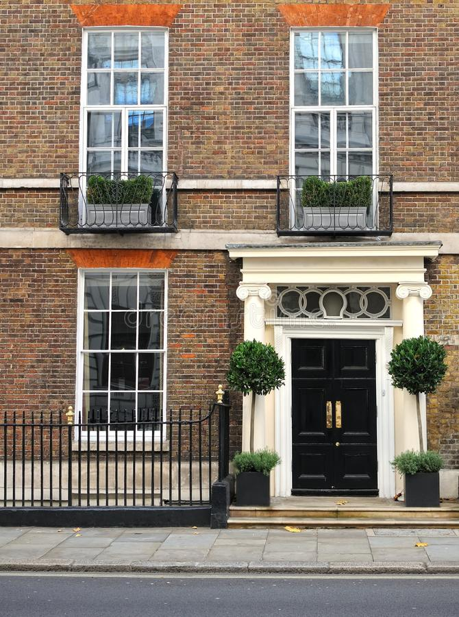 Traditional London house. Traditional London victorian house, UK stock photo