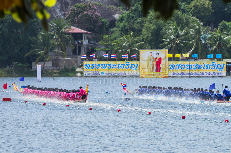 Traditional long boat racing at koa toa huahin 2013