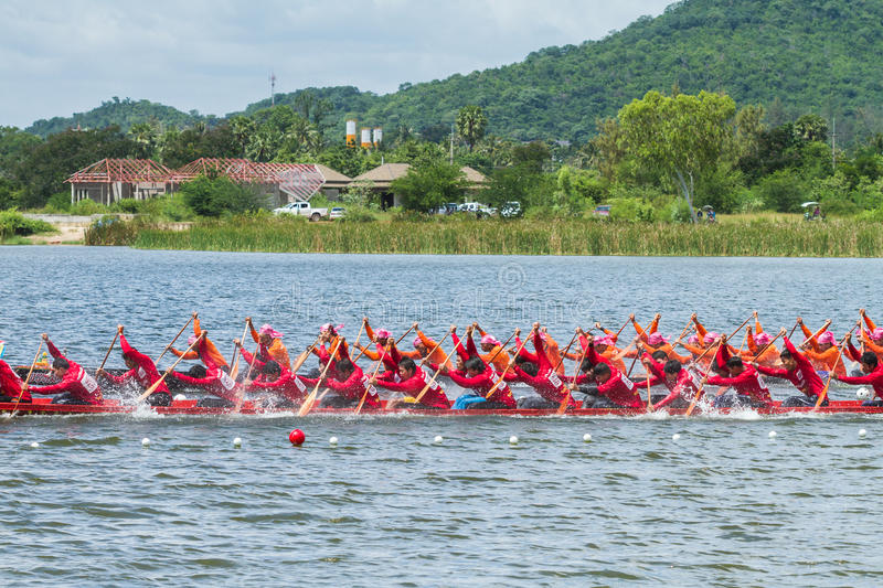 Download Traditional Long Boat Racing At Koa Toa Huahin 2013 Editorial Stock Photo - Image of event, dedication: 34009038