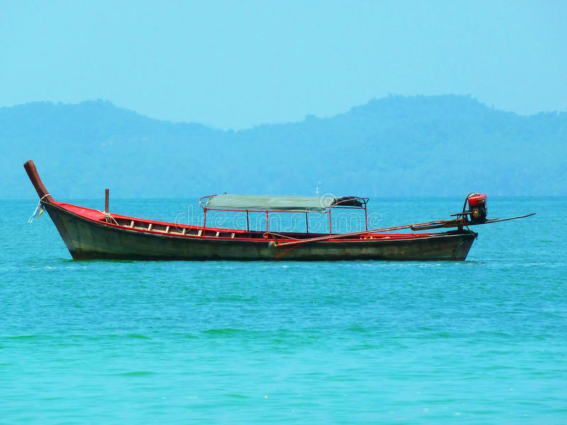 Traditional longtail boats royalty free stock photo