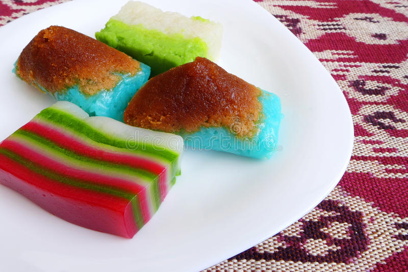 Traditional Malay nonya dessert cakes stock photography