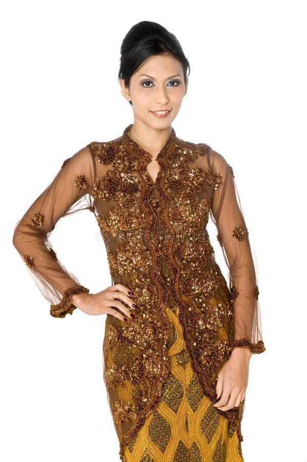 Traditional Malay Woman stock photos