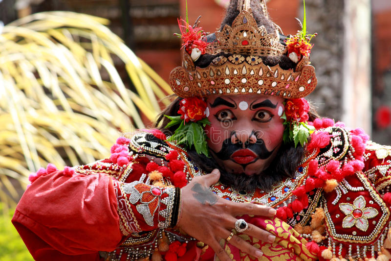 Traditional Male Balinese Dancer stock photos
