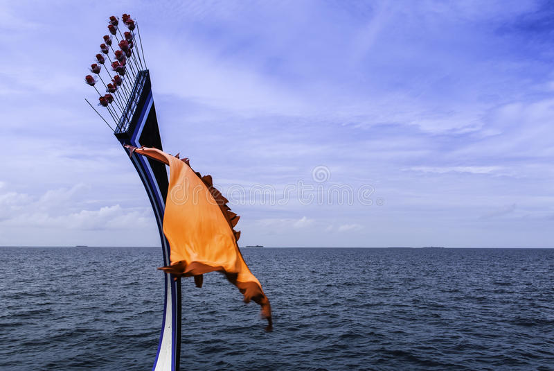 Traditional Maledivian Boat Front Royalty Free Stock Image