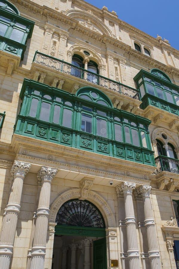 Traditional Maltese Balcony in Valletta royalty free stock image