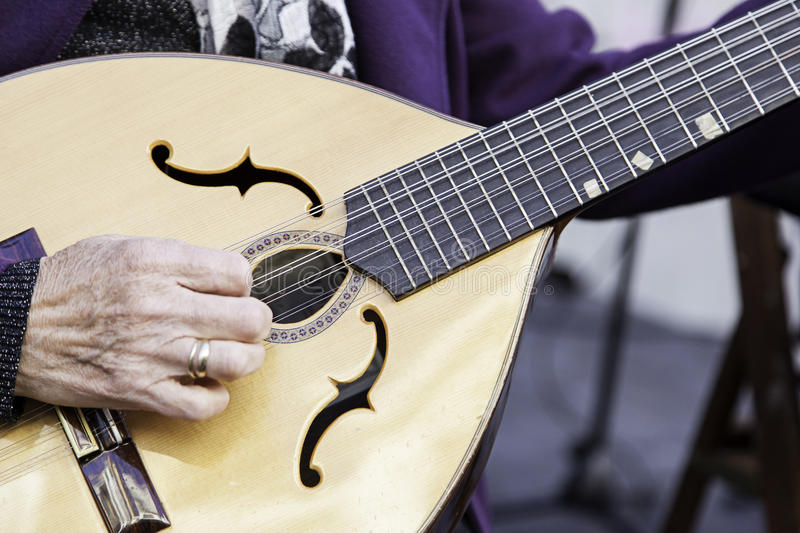 Traditional mandolin. Ancient stringed instrument, music royalty free stock images